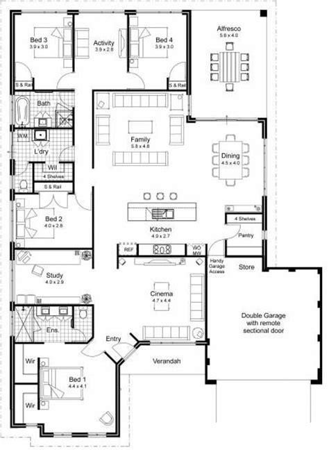 Veranda Floor Plan by Interesting Floor Plan Garage Entrance Dining Open To