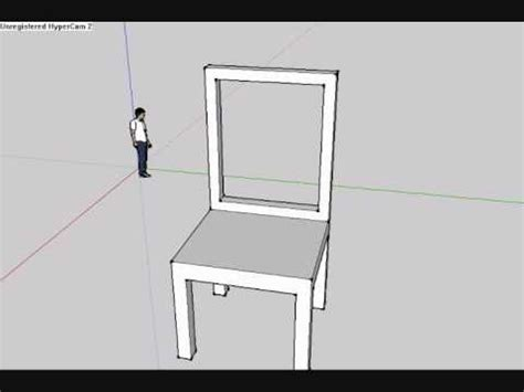 chair tutorial google sketchup how to make a chair in google sketchup youtube