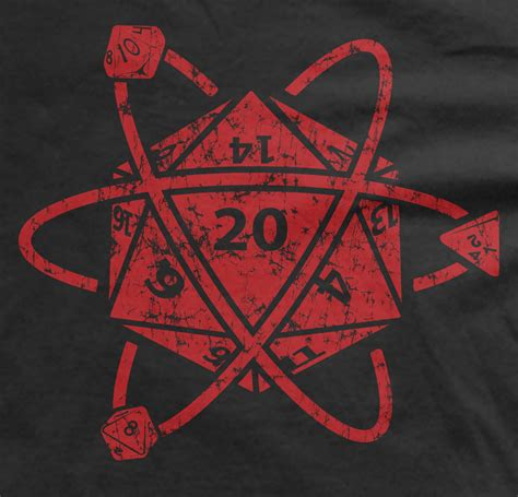 Sweater Dungeons And Dragons Logo d20 atom t shirt dungeons and dragons apparel d d