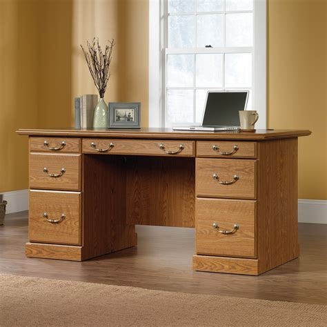 Sauder 401822 Orchard Hills Executive Desk Atg Stores Sauder Home Office Furniture