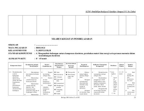 Cd Rpp Biologi Sma Kelas X Xii K13 Edisi Revisi 2017 3 silabus biologi sma
