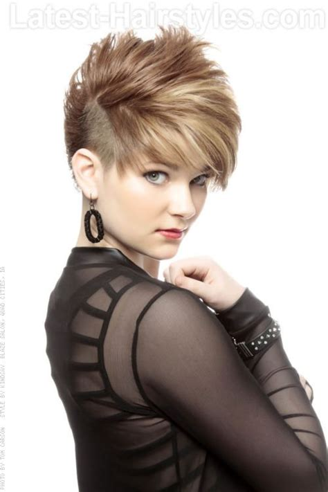subtle mohawks women play on the traditional mohawk this haircut utilizes