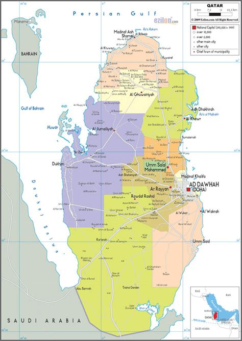 physical map of qatar large detailed administrative map of qatar qatar large