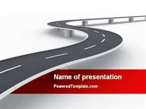 blank race track template road overpass powerpoint template by poweredtemplate