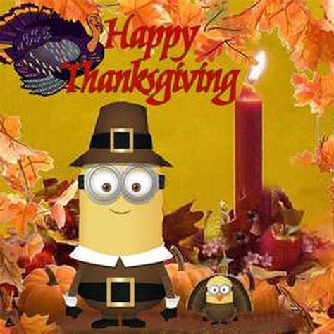 hapy thanksgiving minion pictures   images  facebook tumblr pinterest  twitter