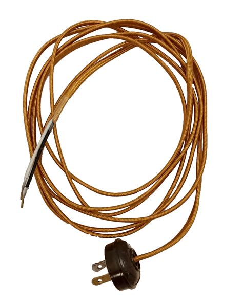plug in light cord rayon l cord set with antique style plug 46860 b p