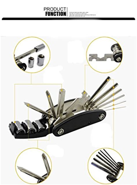 Emblem Sports By Susan Shop gvdv 16 in 1 multi function bike tools with patch kit