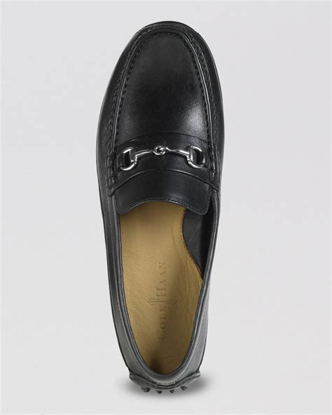 cole haan bit loafers cole haan grant canoe bit driving loafers in black for