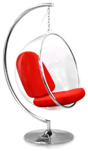 amazon com eero aarnio bubble chair with red seat cushion find eero aarnio bubble chair with red seat cushion indoor