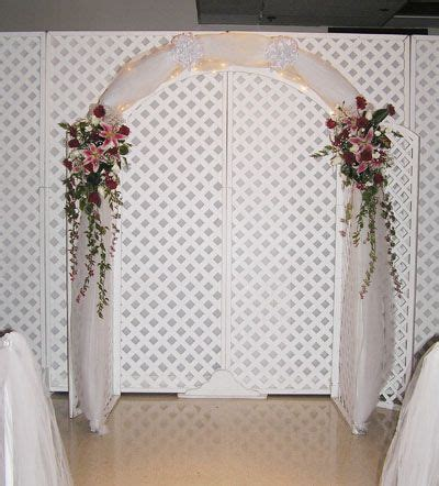 indoor wedding altars   Wedding Arch Ideas in front of the
