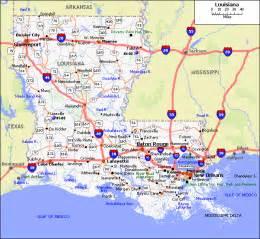 Map Of Southern Louisiana by Map Of Louisiana