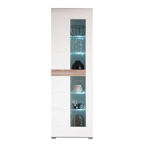 beleuchtung vitrine vitrine meeno inkl beleuchtung wei 223 hochglanz eiche