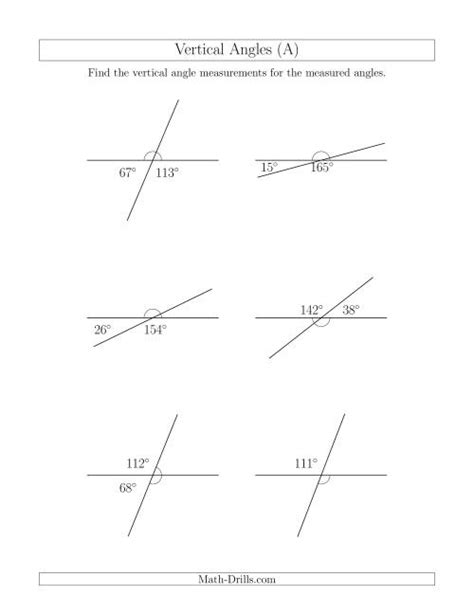 vertical angle relationships