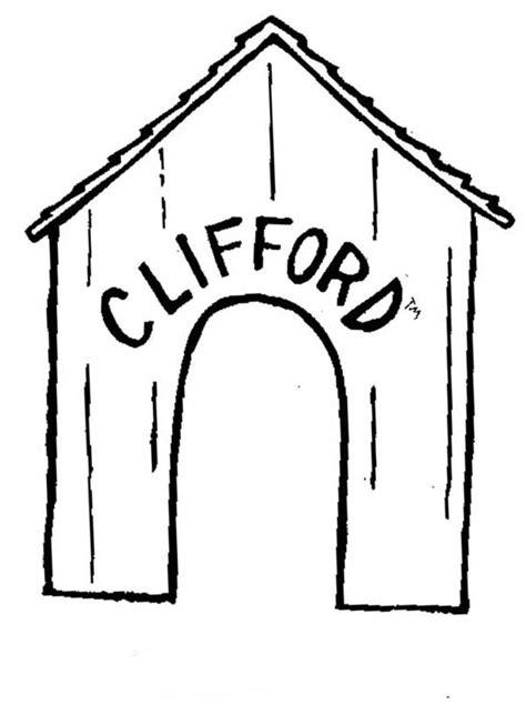 clifford the big red dog house free coloring pages