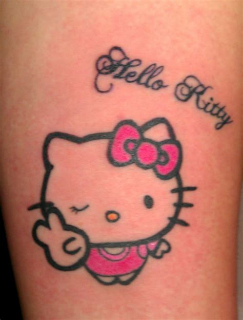 kitty tattoo peace tattoos hello ideas tattoos piercings