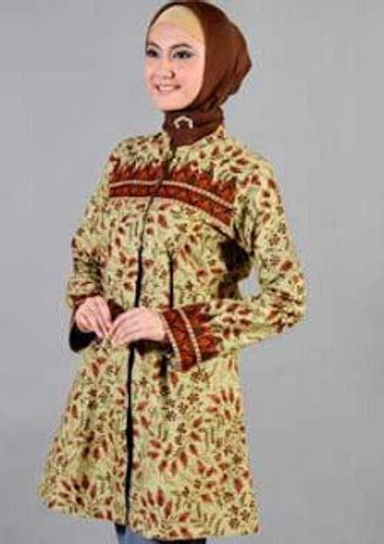 Tunic Batik Modern model baju batik muslim modern untuk wanita berhijab