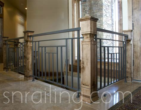 Outdoor Iron Chandelier Residential Railings Traditional Staircase Salt Lake