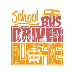 Monogrammed Fonts Bus Driver Life Cuttable Design