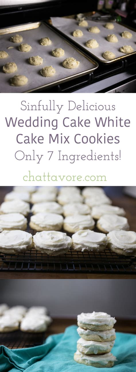 Wedding Cake Mix by Wedding Cake White Cake Mix Cookies Chattavore