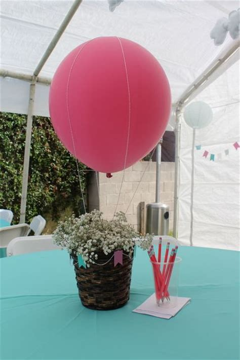 Hot Air Balloon Sky Baby Shower Party Ideas Centerpieces Air Balloon Table Centerpieces