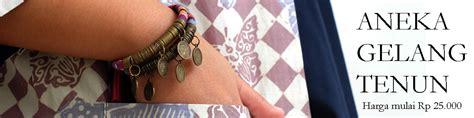 Kalung Tenun Coklat koleksikikie tempat belajar dan belanja manik manik