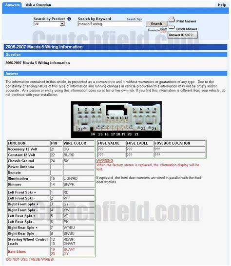 2007 mazda 3 radio wiring diagram 2010 mazda 3 radio