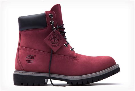 color timberlands timberland burgundy 6 inch boot limited release