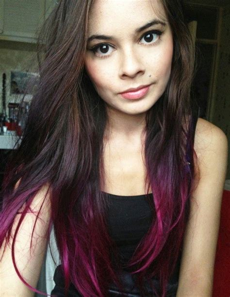 dyed hairstyles for brown hair dyed tips dark brown hair google search dyed hair