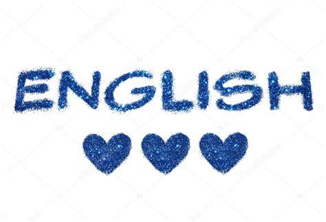 imagenes in english la palabra ingl 233 s y tres corazones abstractos de brillo