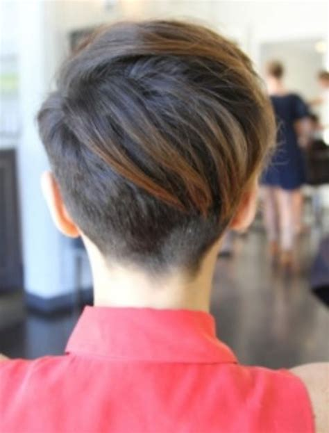 how to cut back of pixie haircut with electric razor pixie cut back view hairstyles ideas