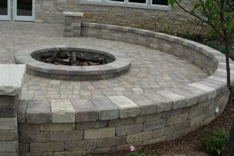 Paver Patio With Retaining Wall Patios Brick Paver Showroom Of Ta Bay