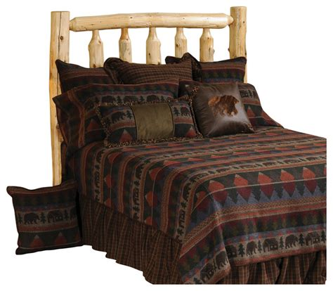 rustic comforter sets queen cabin bear basic set super queen rustic comforters