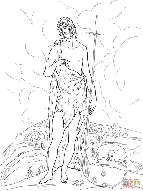 coloring pages of st john the baptist saint john the baptist in the wilderness coloring online