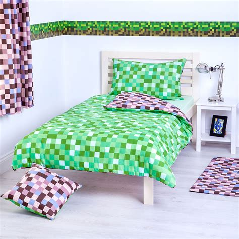 Wallpaper Stiker 039 green brown pixels wallpaper border self adhesive children