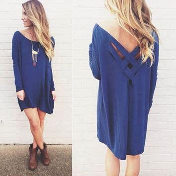Wst 12011 V Neck Dress Blue white v neck bottoming lace dress from west