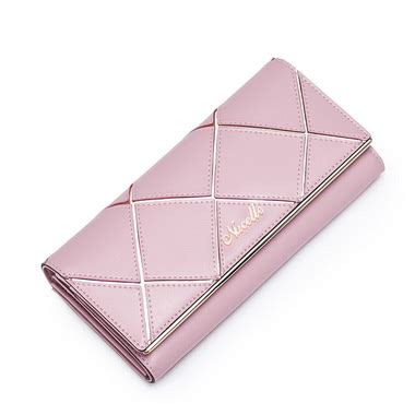 Purse Nucelle Pink 070347 04 necelle cowhide leather style wallet pink