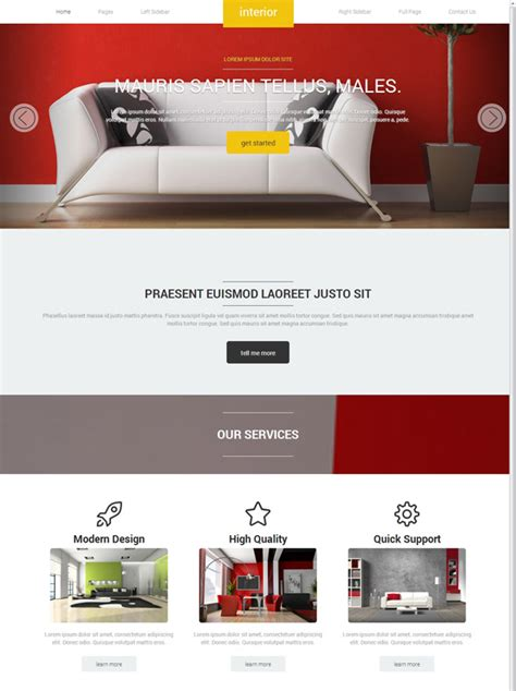 Interior Decoration Site Template Interior Furniture Website Templates Dreamtemplate Furniture Website Templates Free
