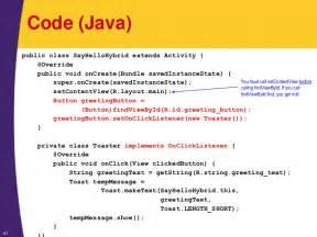 Toaster Application Android Tutorial Android Programming Basics Xml Java