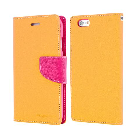 Iphone 4 Fancy Diary Yellow Goospery Mercury goospery fancy diary yellow pink for apple iphone 6 4 7 quot