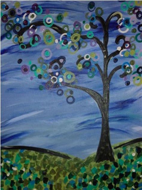 funky trees paint n cheers creative social oklahoma city
