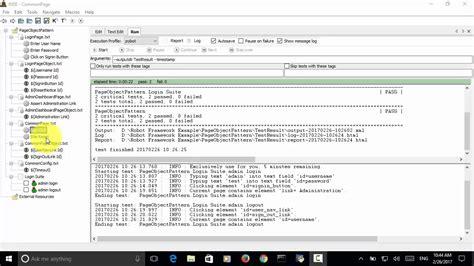 python pattern matching framework selenium python robot framework page object pattern youtube