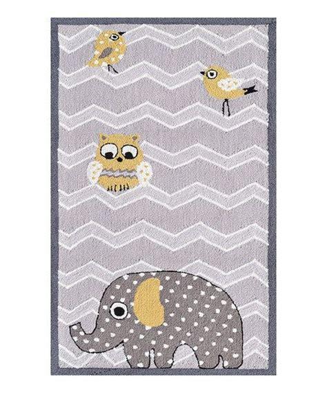 Grey Elephant Nursery Rug by Yellow Gray Elephant Zigzag Rug Mussols Owls