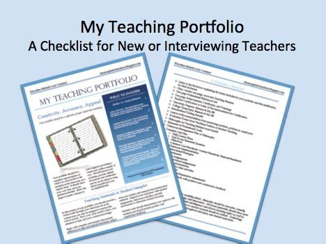 A Lesson Plan For Teachers The Teaching Interview Teaching Portfolio Template Free