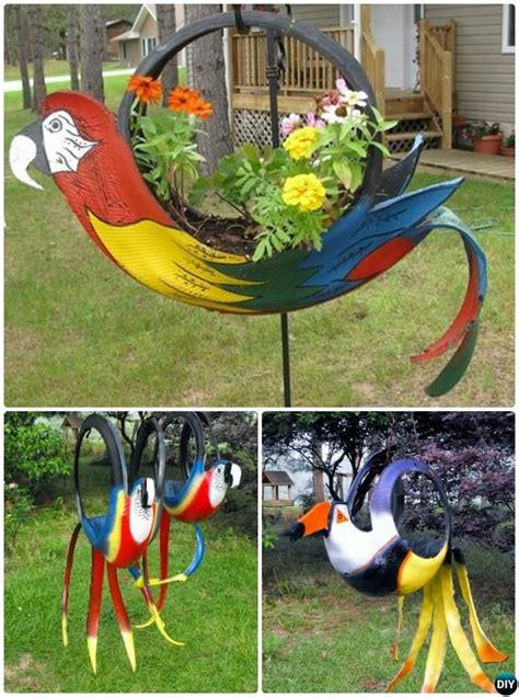 Recycled Tire Parrot Planter by 25 Best Ideas About Recycled Tires On Recycle