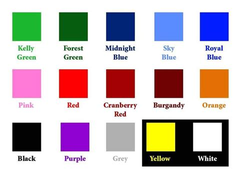 colors in list 17 best images about the colors on paint