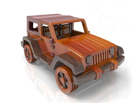 jeep wrangler wood toy plan  plan set email