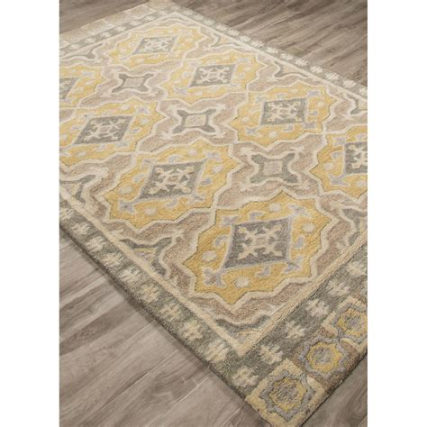 yellow accent rug jaipurliving pendant hand tufted gray yellow area rug