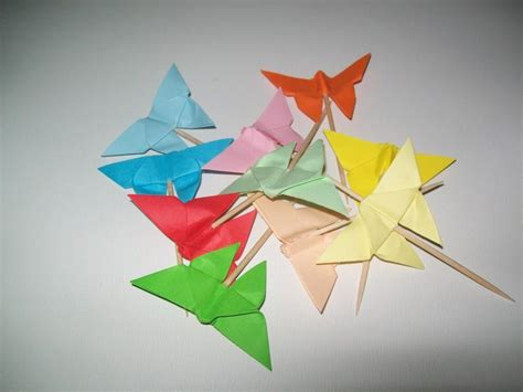 Origami Cupcake - wedding origami butterfly cupcake topper set of 50