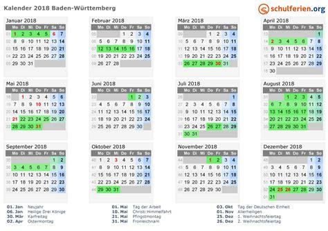 Liechtenstein Calend 2018 Kalender 2018 Ferien Baden W 252 Rttemberg Feiertage