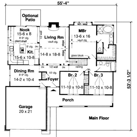 1700 sq ft house plans traditional style house plan 3 beds 2 baths 1700 sq ft plan 312 339